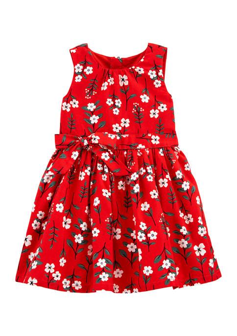 Carter's® Toddler Girls Red Floral Dress