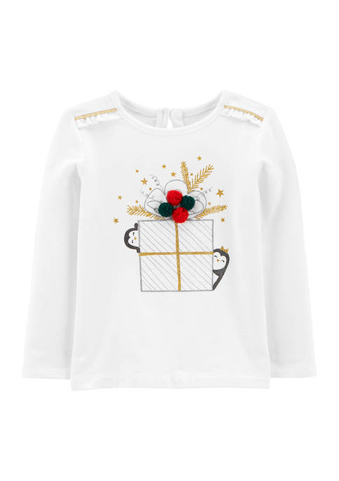 Carter's® Toddler Girls Christmas Graphic T-Shirt