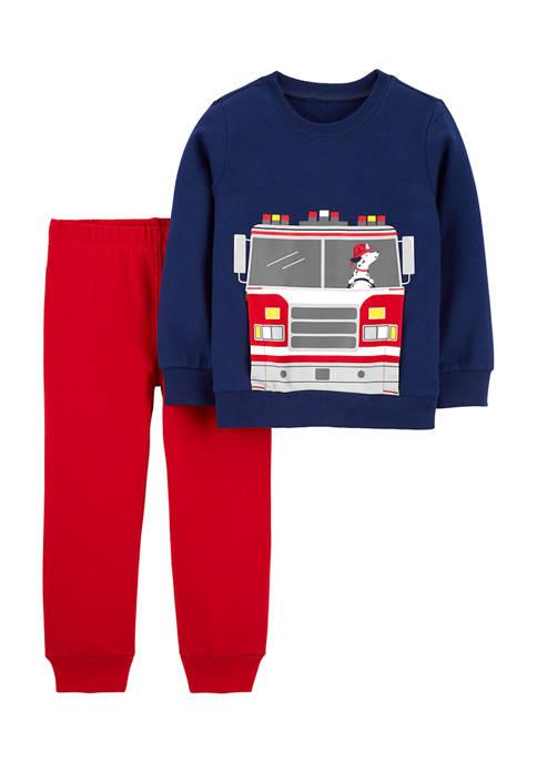 Carter's® Toddler Boys Firetruck Set