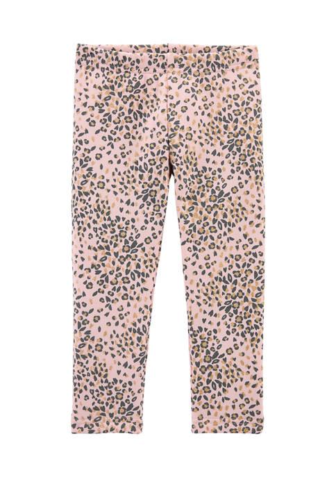 Carter's® Toddler Girls Pink Leopard Print Pants