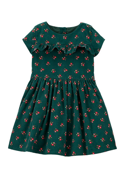 Carter's® Toddler Girls Green Holiday Dress