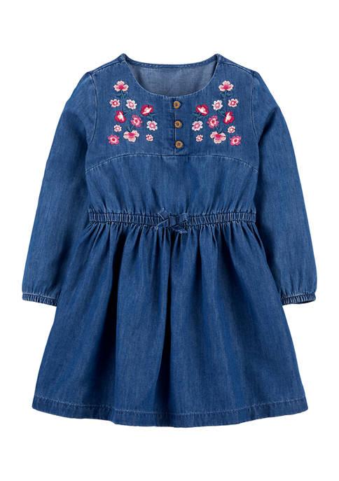 Carter's® Toddler Girls Chambray Dress