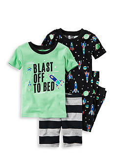 Carter's® 4-Piece 'Blast Off To Bed' Sleeper Set Toddler Boys