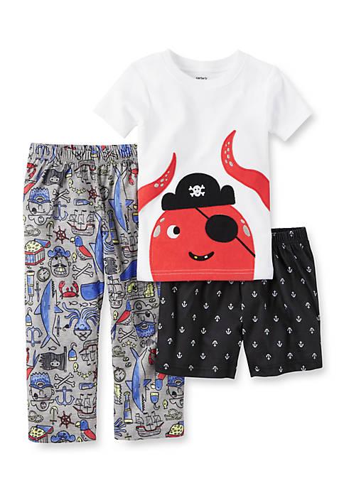 45fab4290a55 New Carters Toddler Boy 3-Piece Sea Creatures Cotton   Jersey Pajama ...