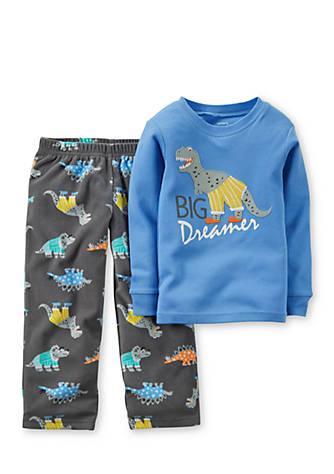 9b267b4f3878 Carter s® 2-Piece Dinosaur Fleece Pajama Set Toddler Boys
