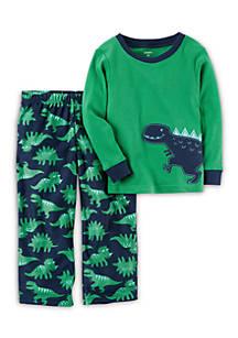 Carter s® 2-Piece Dinosaur Cotton   Fleece PJs Toddler Boys  28e3b8730