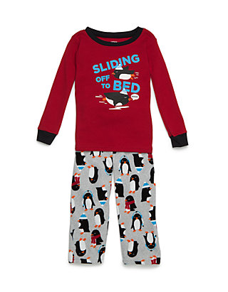 3643b88ed Carter's® Boys Toddler 2-Piece Penguin Thermal & Fleece PJs | belk