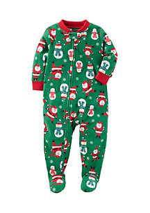 5e031ce773 Carter s® 1-Piece Christmas Fleece PJs Toddler Boys