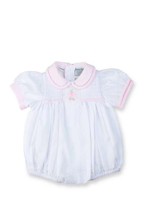 Feltman Brothers Bow Smocked Bubble Romper