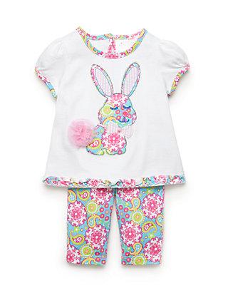 fdf6602fbbee Nursery Rhyme®. Nursery Rhyme® 2-Piece Bunny Top and Capri Pants Set