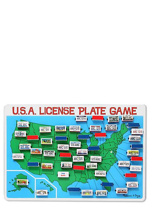U.S.A. License Plate Game - Online Only