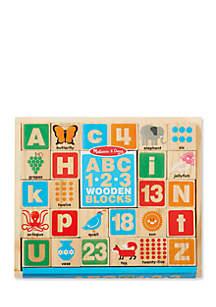 ABC - 123 Wooden Blocks