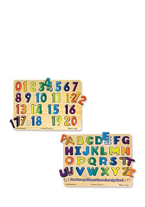 Numbers & Alphabet Sound Puzzle Bundle