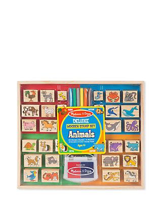 Deluxe Wooden Stamp Set Animals