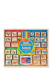 Deluxe Wooden Stamp Set - Animals