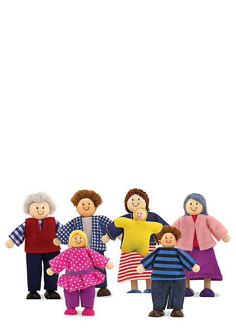 Wooden Doll Family