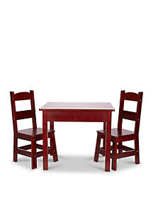 Espresso Wooden Table Chairs