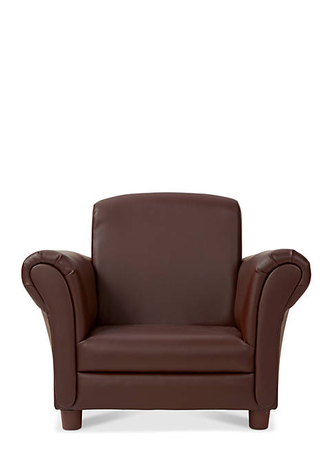 Melissa & Doug® Childs Armchair Coffee Faux Leather