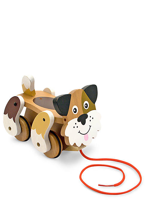 First Play Wood-Playful Puppy Pull Toy
