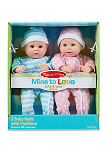 Mine to Love Luke & Lucy Baby Doll Set