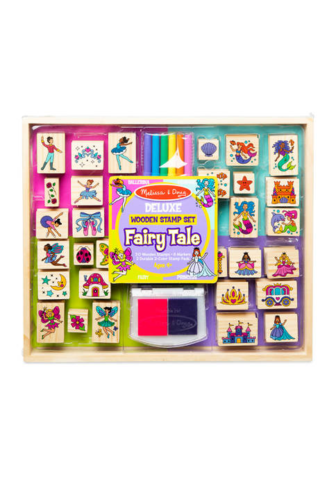 Melissa & Doug® Deluxe Wooden Stamp Set