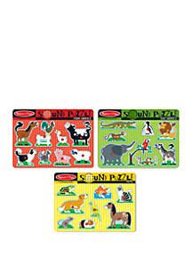 Melissa & Doug® Sound Puzzle Bundle