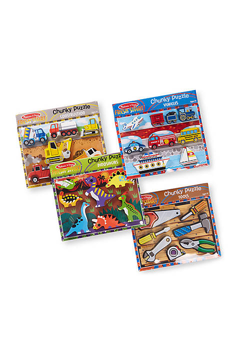 Chunky Puzzle Bundle Dinosaur Construction Tool and Vehicles