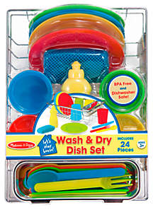Melissa & Doug® Let's Play House! Wash & Dry Dish Set - Online Only