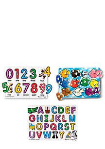 Classic Peg Puzzle Bundle Set of 3 - Online Only