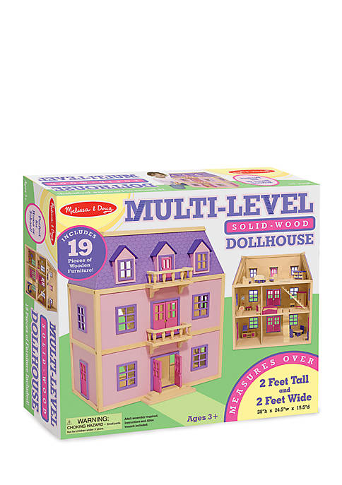 Melissa & Doug® Multi Level Wooden Dollhouse