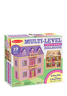 Multi Level Wooden Dollhouse - Online Only