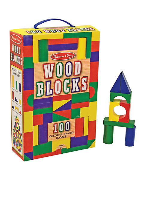 Melissa & Doug® 100 Piece Wood Blocks Set