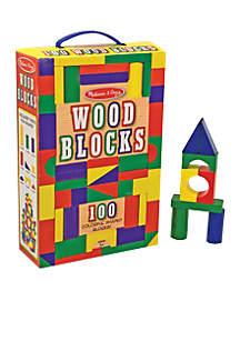 100 Piece Wood Blocks Set - Online Only