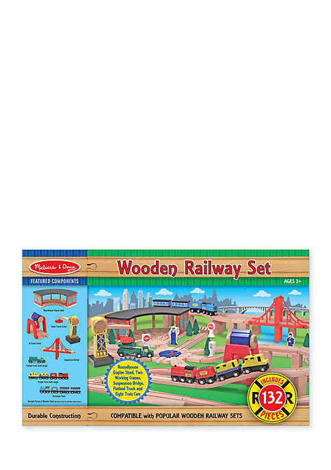 Wood Railway Set - Online Only