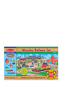 Melissa & Doug® Wood Railway Set - Online Only