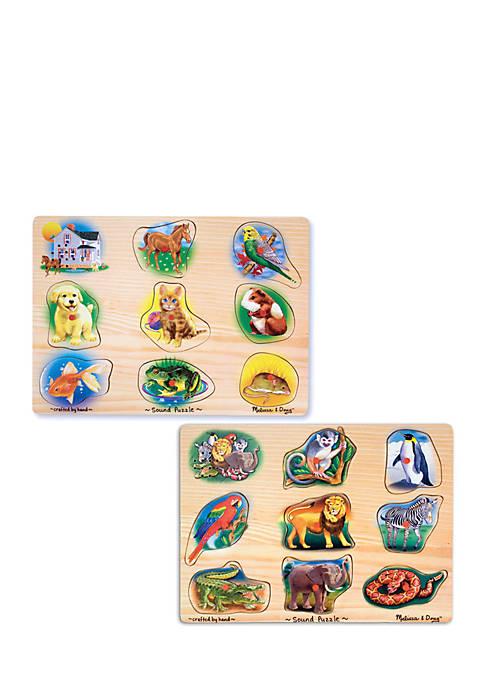 Melissa & Doug® Animals Sound Puzzle Bundle