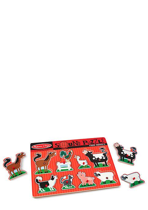 Melissa & Doug® Sound Puzzle Farm Animal Set