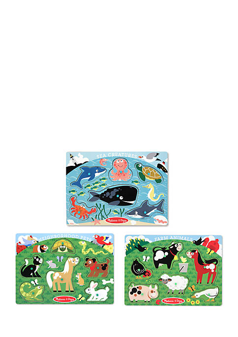 Melissa & Doug® Peg Puzzle Bundle