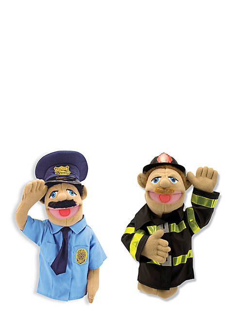 Melissa & Doug® Police Officer And Firefighter Puppet
