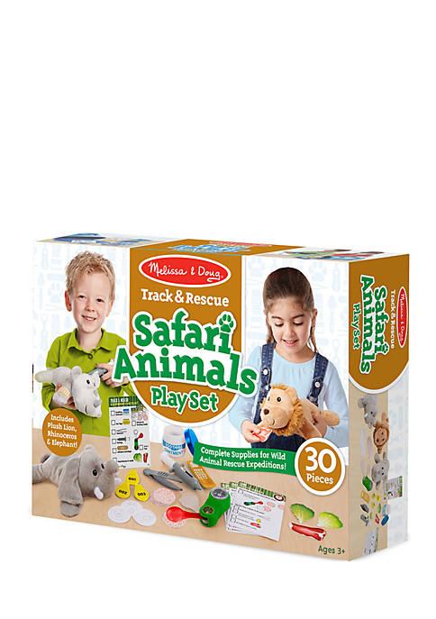 Track & Rescue Safari Animals Play Set