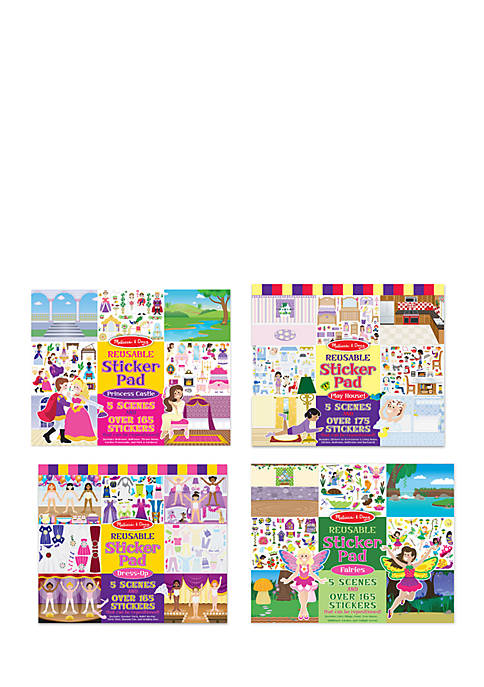 Fairy, Princess, Dress-Up, And Play House Reusable Sticker Pad Bundle