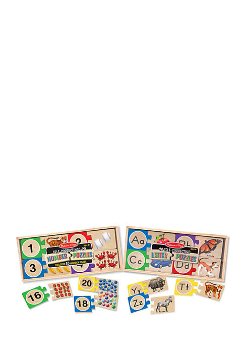 Self-Correcting Letters And Numbers Puzzle Bundle