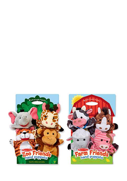 Melissa & Doug® Hand Puppet Bundles Farm Zoo