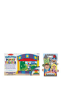 Melissa & Doug® Tabletop Puppet Theater and Palace Pals Puppets Bundle