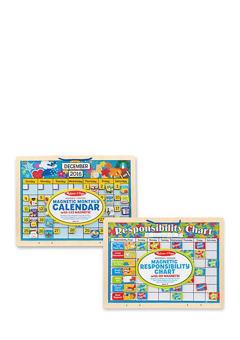 Melissa & Doug® Magnetic Calendar Responsibility Chart Bundle