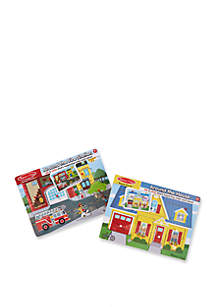 Melissa & Doug® Sound Puzzle Bundle (Around the House and Fire Station)