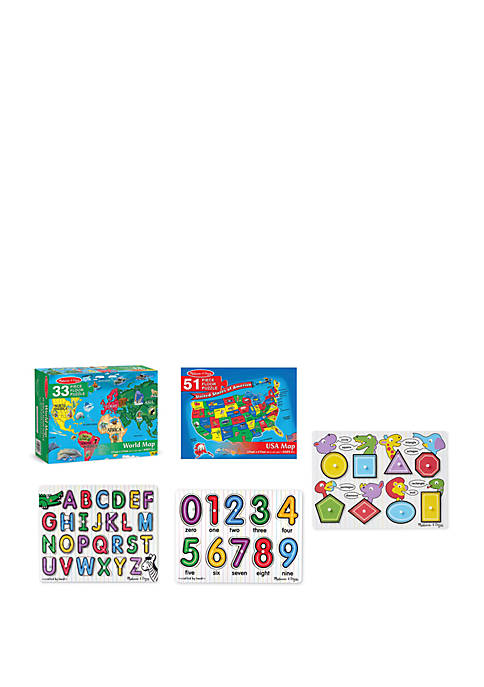 Melissa & Doug® Maps & ABC, 123- Peg