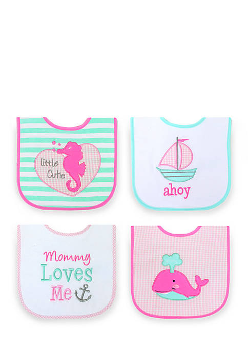 Nursery Rhyme® 4-Pack Cutie Bib Set