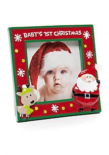 Nursery Rhyme Babys First Christmas Frame Belk