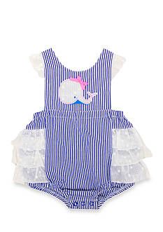Nursery Rhyme® Striped Whale Sunsuit